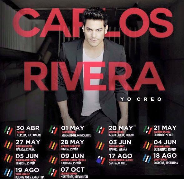 Fechas de Carlos Rivera en 2016