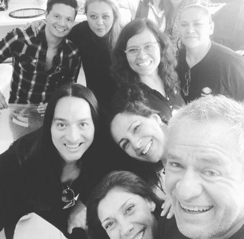 José Alberto Castro y su equipo de imagen