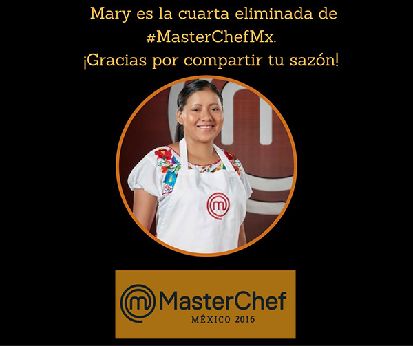 Mary eliminada MasterChef