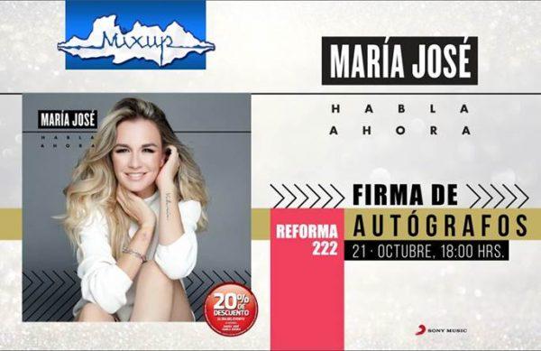 María José Firma de autógrafos