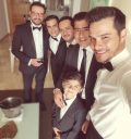 Brandon Peniche en su boda