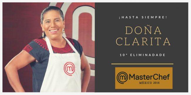 Doña Clarita eliminada de MasterChef