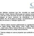 Comunicado Televisa
