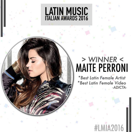 Maite Perroni Latin Italian Music Awards