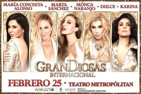 GranDiosas Internacional en Teatro Metropólitan 25 de febrero