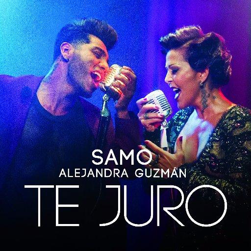 Samo y Alejandra Guzmán en portada de Te juro
