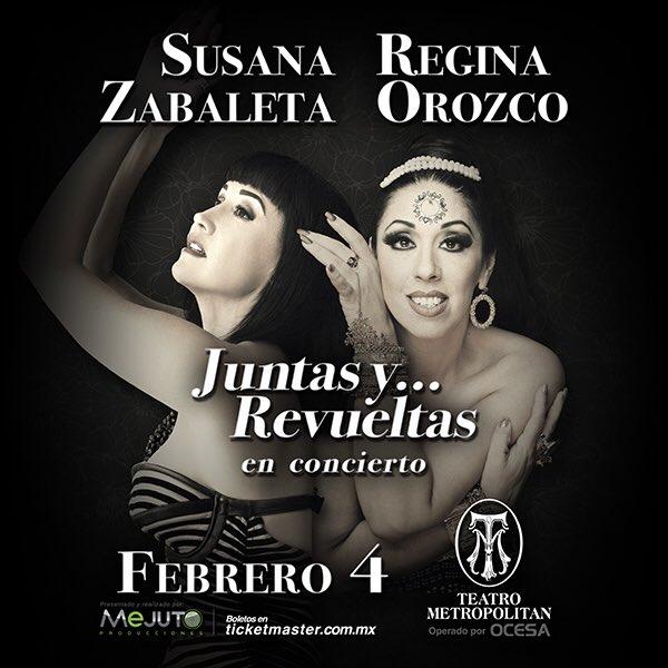 Susana Zavaleta y Regina Orozco en Metropólitan