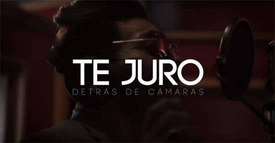 Samo lanza detrás de cámaras de Te Juro