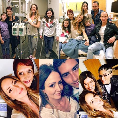 Andrea Legarreta en hospital