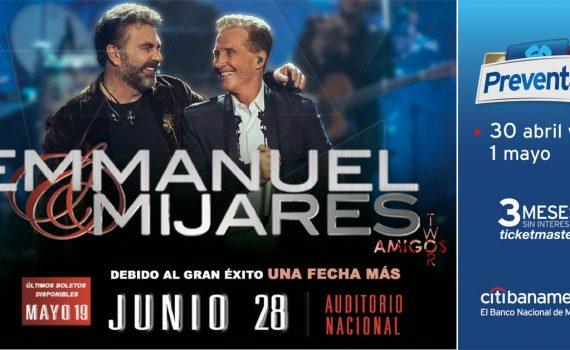 Emmanuel y Mijares en Auditorio Nacional